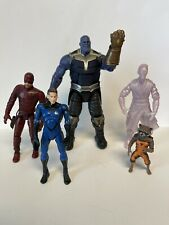 Marvel Legends Movie Figure Lot  Thanos BAF Rocket Dr. Strange Daredevil