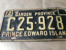 VTG 1972 Prince Edward Island License Plate C25 928 Canada Garden Province
