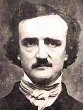 PAINTING PORTRAIT AMERICAN GOTHIC AUTHOR EDGAR ALLAN POE POSTER PRINT LV10580