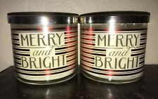 2 Bath & Body Works MERRY AND BRIGHT Large 3-Wick Candles Limoncello -Set of 2-