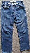 Diesel RR55 Mens Jeans W31 L28 Blue Straight Leg Mid Rise Button Fly 100% Cotton