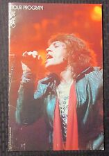 """1975 ROLLING STONES Tour of the Americas PROGRAM 9x14"""" VG+ 4.5 Mick Jagger"""