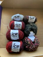 Mixed LOT Of  ICE Yarn! Variety of Colors and Fibers! LOT of 7!