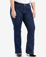 LEVIS 415 Classic Bootcut Jeans Stretch Denim Storm Rider Blue Plus Size  18 S
