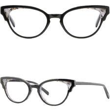 Black Women's Plastic Frames Cute Vintage Cat Eye Eyeglass Prescription Glasses
