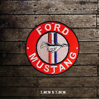 Ford Mustang Car Brand Logo Racing Embroidered Iron on Patch Sew on Badge