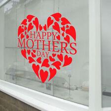 Décorations murales et stickers rouges fenêtre pour la maison