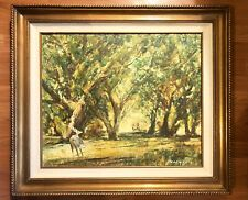 Original Oil Painting Deer In Forest Signed By Artist Caldwell