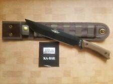 NEW KA-BAR  Jarosz 7507 Choppa Fixed Blade Knife / Molle Compatible Sheath / USA
