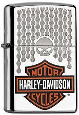 ZIPPO Feuerzeug Harley Davidson CHAINS High Polished Motorrad Ketten NEU OVP