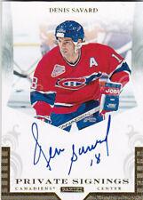 2011-12 Panini Private Signings Auto #DS2 Denis Savard Canadiens Autograph