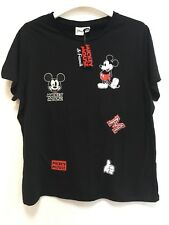 BNWT Mickey Mouse Black t-shirt Womens 'XL' Ladies 18-20UK Disney Unusual