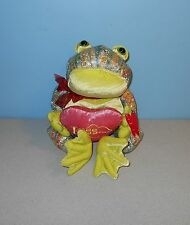 """New Amscan 12"""" Rainbow Shimmer Pond Frog Valentines Day Stuffed Plush w/ Heart"""