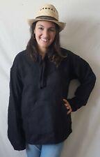 Baja Shirt Woven Hoodie Unisex Pullover Jerga Jacket Sweater Drug Rug Black XL