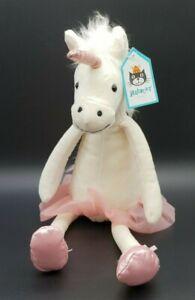 BNWT Jellycat Dancing Darcey Unicorn 33cm White Stuffed Plush Toy