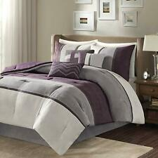 Madison Park Palisades 7 Piece Comforter Set, Blue, Queen