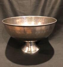 Hammered Silver Aluminum/Metal Pedestal Bowl