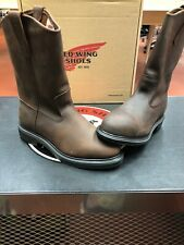 Red Wing Pecos 2259 Men's Size 7 D Slip-On Steel Toe Boots USA Made