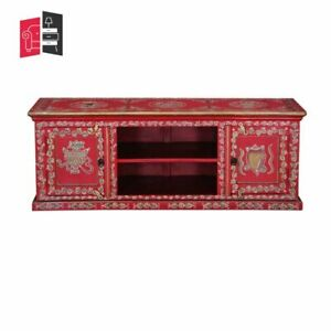 Pandora Hand Painted Solid Wood TV Unit Console Cabinet (MADE TO ORDER)