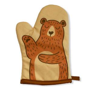 Bear Oven Mitt Funny Puppet Hand Cute Bear Kitchen Graphic Oven Glove (Oven