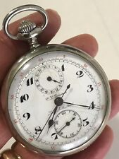 Military Grade CL Guinand Split Second Chronograph Pocket Watch Dead Accurate