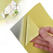 9x adesivi murali a specchio quadrato 3D decalcomania mosaico Home Wash Room CH