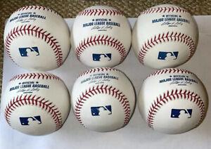 1/2 DOZEN RAWLINGS OFFICIAL LEATHER MAJOR LEAGUE BASEBALLS MLB - QTY 6