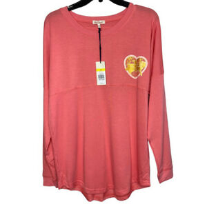 """NWT Red Camel Sz Large L Coral Pullover Sweatshirt """"Love The South"""" Stretch"""