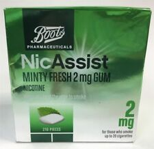 Boots Nicassist Gum - Stop Smoking - 2mg or 4mg - 105 or 210 pieces - Brand New
