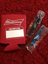 Budweiser Koozie With 2 Miller Lite Bottle/can Opener
