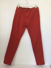 Mens GAP Lived In Skinny Navajo Red Flat Front Pants 30 W 32 (LI5)