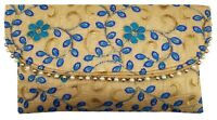 Indian Purse Ladies Vintage Traditional Embroidery Clutch Bag CL055 TURQ