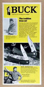 1988 Buck Knives ScoutLite & CubLite vintage print Ad