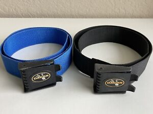 LOT 2 Vintage Dacor Dive Diving Scuba Belt Belts Blue Black