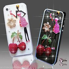 NEW 3D DELUX COOL BLING ANGEL PINK GIRL DIAMANTE CASE FOR VARIOUS MOBILE PHONES