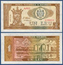 MOLDAWIEN / MOLDOVA 1 Leu  1992  UNC  P.5