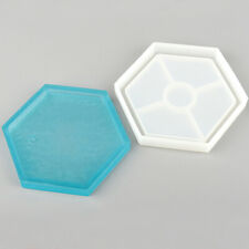 Hexagon Coaster Resin Casting Mold Silicone Making Dried Flower Mould Crafts DIY