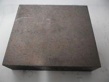SKT Graphite Electrode Rectangle Block Pattern Glass Blow 13.7cm x 12.1cm x3.3cm