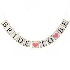 Bride To Be Bunting Banner Garland Wedding Hens Night Bridal Party Decor E9B5