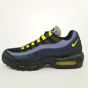 Nike Air Max 95 Grizzlies Blue Yellow CT1805-400 New Men's Shoes Size 11 No Lid