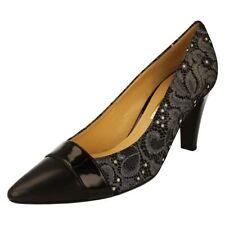 Zapatos de tacón de mujer de flores de piel