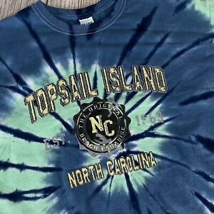 Gildan Topsail Island NC Size XL Adult Tie Dye T-Shirt Colorful North Carolina