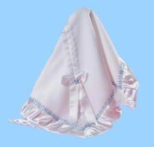 Wunderschöne Taufdecke Babydecke Taufe Decke blau NEU