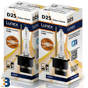 2 x D2S NEU Stück LUNEX HID XENON BRENNER P32d-2 35W 4300K Colour Match + 50%