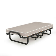 Folding Bed with Memory Foam Mattress Compact Rollaway Metal Bed Sleeper Home