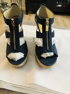 Michael Kors Denim Platform Heels Size 8