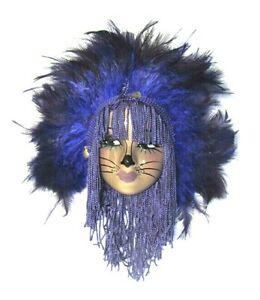 Unique Creations Small Black Kitty Cat Lady Face Mask Wall Hanging - NEW IN BOX