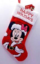 "New Disney Minnie Mouse Santa Suit Christmas Stockings Embroidered Velvet 20"""