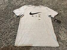 Nike Air Gray Silver Black Swoosh t shirt S NBA All Star Lebron KD Kyrie 23 35