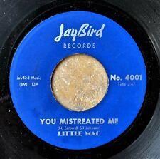 CHICAGO BLUES HARMONICA 45: LITTLE MAC You Mistreated Me/Broken Heart JAYBIRD